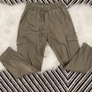 NWT Art + ephect khaki green joggers cargo pants